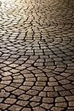 Cobblestone street. Background of cobblestone street surface Royalty Free Stock Image