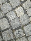 Cobblestone street. Abstract wallpaper background royalty free stock photography