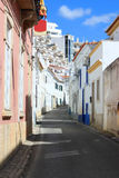 Cobblestone street in Albufeira, Portugal Stock Image