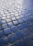 Cobblestone street background Stock Image