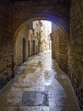 Cobblestone street in Barcelona 0404 Stock Photos