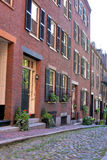 Cobblestone street in boston Royalty Free Stock Photography