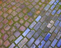 Cobblestone street in Bruges Royalty Free Stock Photos