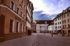 Cobblestone street in germany Stock Image