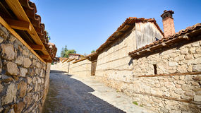 Cobblestone Street in Koprivshtitsa Stock Photography