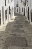 Cobblestone Street in Mijas Stock Photography