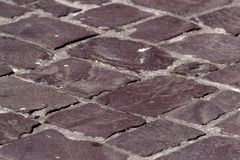 Cobblestone street pavement Stock Photos
