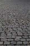 Cobblestone street perspective Royalty Free Stock Images