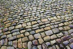 Cobblestone street after the rain Royalty Free Stock Photography