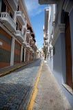 Cobblestone Street in San Juan. Empty street in San Juan, Puerto Rico stock photo