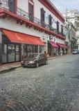 Cobblestone Street in San Telmo Buenos Aires Stock Photos