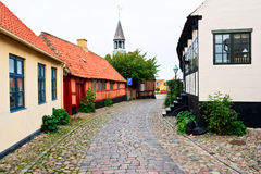 Cobblestone street. In a small village royalty free stock photo