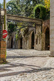 Cobblestone Street in Southern US City Royalty Free Stock Photography