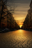 Cobblestone street Royalty Free Stock Images