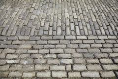 Cobblestone street surface, background or texture Royalty Free Stock Images