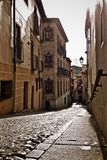 Cobblestone Street in Toledo Spain Stock Photography