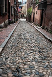 Cobblestone Streets of Boston Royalty Free Stock Image