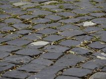 Cobblestone Road in Wilmington, North Carolina royalty free stock images