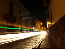 Cobblestone Streets At Night Stock Photos