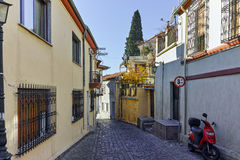 Cobblestone streets in old town of Xanthi, East Macedonia and Thrace Stock Photos