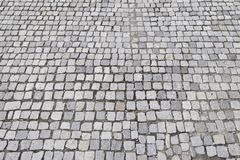 Cobblestone surface. Closeup as texture stock image