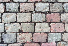 Cobblestone Texture. Basic cobblestone structure of a typical road at a historic city center Stock Image