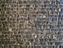 Cobblestone texture on the ground. Cobblestone texture, can be used as background image Stock Photos