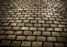 Cobblestone Texture. Old light grey squared cobblestone texture Stock Image