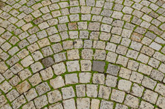Cobblestone tiled Stock Photo