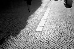 Cobblestone walk Royalty Free Stock Photography