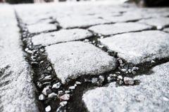 Cobblestone walk path black color Royalty Free Stock Image