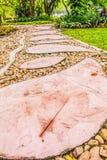 Cobblestone walkway Royalty Free Stock Photos