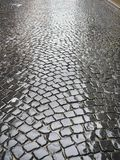 Cobblestone wet Royalty Free Stock Photography
