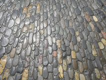 Cobblestone wet Royalty Free Stock Image