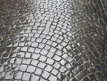 Cobblestone wet Stock Photos