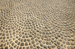 Cobblestoned pavement on floor Royalty Free Stock Photography