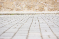 Cobblestoned road blurred Stock Image