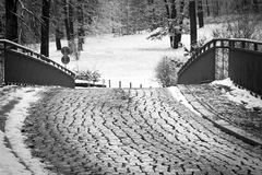 Cobblestoned Road Royalty Free Stock Photography