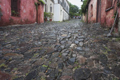 Cobblestoned street in Colonia Royalty Free Stock Photos