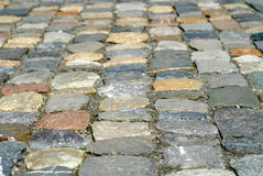 Cobblestones. In many different colours Stock Image