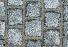 Cobblestones. Texture of a cobblestone street Royalty Free Stock Images