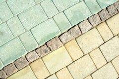 Cobblestones background Stock Images