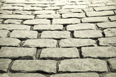 Cobblestones background. Old port in Quebec Royalty Free Stock Photos