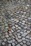Cobblestones bagnati immagine stock