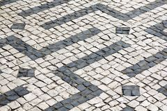 Cobblestones in Braga, Portugal Stock Images