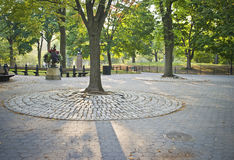 Cobblestones Central Park stock photos