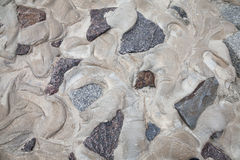 Cobblestones in concrete Royalty Free Stock Images