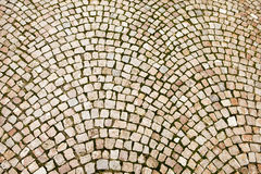 Cobblestone Pattern On Czech Street Stock Photography