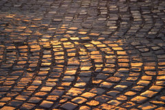 Cobblestones do castelo de Buda Foto de Stock Royalty Free