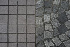 Cobblestones floor. Cobblestones floor in Hong Kong Stock Photography